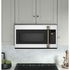 GE Cafe Over-the-Range Microwave CVM517P4MW2 Matte White/Brushed Bronze - NEW