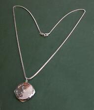 Schönes 925er Silber SOS-MEDAILLON mit Silberkette • Pillen-Anhänger