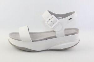 scarpe donna MBT 41 sandali bianco pelle DJ641
