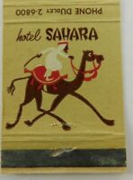 Hotel Sahara Las Vegas Nevada Gold Vintage Matchbook Cover
