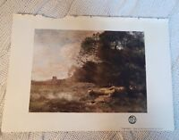 The Pool from the Picture by Camille Corot - 1902 Book Print