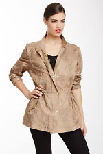 Two by Vince Camuto Leopard Anorak Jacket Size Small Nwt $169