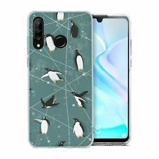 For Huawei P30 LITE Silicone Case Penguin Pattern - S3150