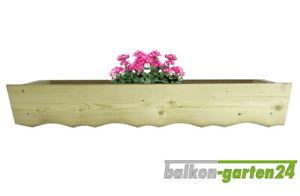 Blumenkasten, Pflanzkasten aus nord. Fichte für Holzbalkone