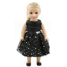 "Fits 18"" American Girl Madame Alexander Handmade Doll Clothes Black Dress MG013"