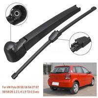 Rear Wiper Arm & Blade For VW Polo 05 06 07 08 09 55 56 57 58 1.2 1.4 1.9 TDI -