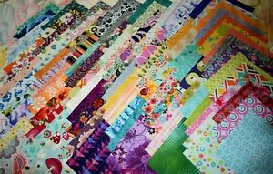 """50 x 5"""" charm squares patchwork & quilting fabric random selection all different"""