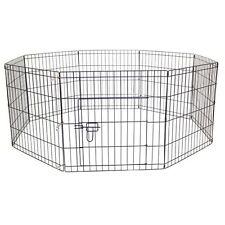 More details for pet dog puppy cat rabbit foldable playpen indoor/outdoor enclosure cage (medium)