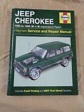 Manuale - HAYNES Manual  1943 :  Catalogo Jeep Cherokee 1993 - 1996 (Petrol)