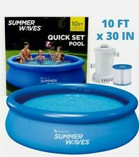 New listing ! Summer Waves Pool 10ft X 30in Quick Set Ring Pool With Filter Pump No Pr