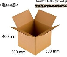 20 Faltkartons 300x300x400mm B-410g/m2  Versandkarton Falt Kartons [ braun ]