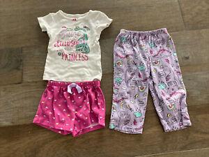 Girls 3 Piece Dinosaur Pajama Set - Carters - Size 2T