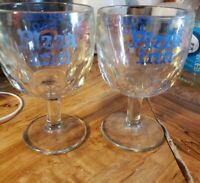 Vintage Lot Of 2 1970's PIZZA INN Restaurant Beer Glass Mug Dimpled Goblet