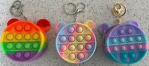 Pop push Bubble Simple Dimple Sensory Fidget Toy Purse Silicon mini purse