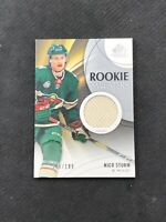 2019-20 SP GAME USED NICO STURM ROOKIE SWEATERS JERSEY RS-NS #ed 106/199