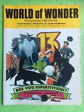 World of Wonder - N°76 - 4th septembre 1971 - Are You Superstitious? - MAGAZINE