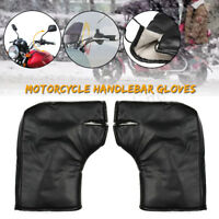 35x27cm Universal Snowmobile Bar Muffs Hand Guards Handlebar Wind Deflector  #