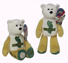 "Coin Bear #3 New Jersey State Collectible 9"" Stuffed Plush Bear Ltd Treasures"