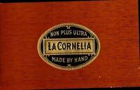 La Cornelia Non Plus Ultra Hand Made Cigar Box Label Embossed Tobacco Cat CBL4