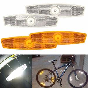 LOWRIDER BMX MTB DECORATIVE BICYCLE BIKE SPOKE MOUNTED WHEEL REFLECTOR SET Fit