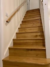 15 X  Right Side Curved  Bullnose Solid Oak Stair Cladding   - 20mm Treads riser