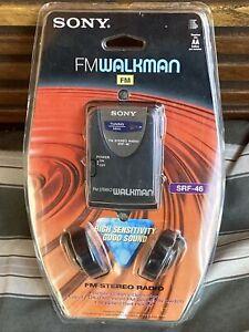 SONY-SRF-46 WALKMAN AM/FM STEREO RADIO with Belt Clip and headphones