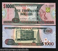 GUYANA $1000 2000 P35 MILLENNIUM MAP ORCHIDS SIGN12 UNC CURRENCY BILL MONEY NOTE