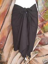NEW Sarong Short Black Pareo Beach Pool Coverup Luau Cruise Wrap Dress Skirt