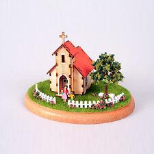 YM981 Diorama Mini House Series - Church Wooden Model Kit