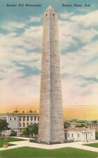 Bunker Hill Monument ,Boston, Mass.  Vintage Postcard