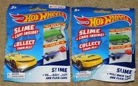 2 - HOT WHEELS SLIME FLICK CAR / PULL BACK CAR BLIND BAG (New In Package)