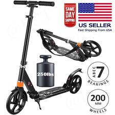 Adult Kids Kick Scooter Adjustable Folding Lightweight Aluminum 200MM Wheels US/
