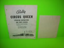 Circus Queen 1960 Original Pinball Bingo Machine Service Manual & Game Schematic