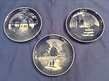 Royal Copenhagen 1972-1974 Blue Christmas Plates