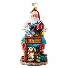 "Radko Desk Of Delights 6"" Santa Working On Toys Ornament 1018691 NWT"