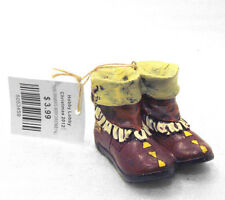 Pair MOCCASSIN BOOTS Christmas Ornament NWT