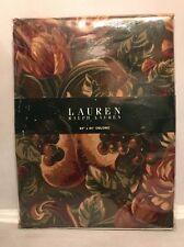 "Rare New! Vintage Ralph Lauren Queensland Crimson Oblong Tablecloth 60"" x 84"""