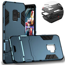 For Samsung Galaxy S9 Plus A8 TPU+PC Shockproof Matte Armor Kickstand Case Cover