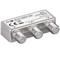 F SAT Schalter Umschalter Switch für Satellit Anlage 2x LNB 1x Receiver HD 4K 3D