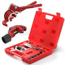 Brake Pipe Flaring Kit Fuel Repair Tool Set Bender + Cutter 3/16 Copper UK