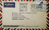 Sydney Australia Air Mail Envelope to Chaton Hubbard Solicitors, London 1966