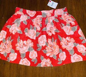 Brand New Pumpkin Pretty Trooper Floral Adjustable Waist Size 6 Skirt