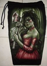 Red Dress Zombie Killer Lady Cotton Shorts Sweatpants Free Size Glow In The Dark