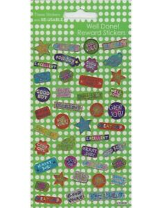 WELL DONE Fun Foiled Stickers sheet Official Product 40 Stickers