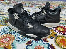 Air Michael Jordan Retro 4 IV Oreo Basketball Shoes Mens Sz 10 2014 Black & Grey