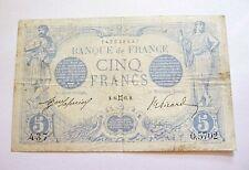 billet de 5 francs BLEU 14 mai 1915