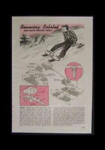 Bouncing Bobsled Sled w/Springs 1945 HowTo build PLANS