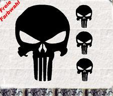4 Stück Punisher Totenkopf  Aufkleber