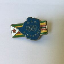 Zimbabwe Olympic Pin Badge Noc From 1984 Los Angeles Usa Olympiad