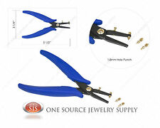 1.8mm Hole Punch Plier Metal Blanks Jewelry Making Design Craft Tool
